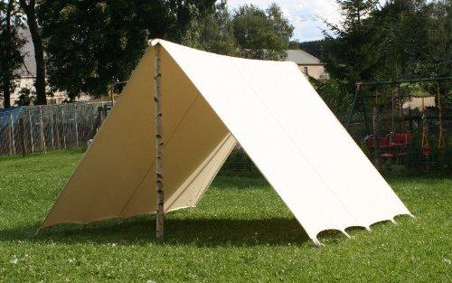 2 x 3m reenactment tarp Lagerplane Zeltplane FLY Segel Plane Sonnensegel Mittelalter Zelt frame tent