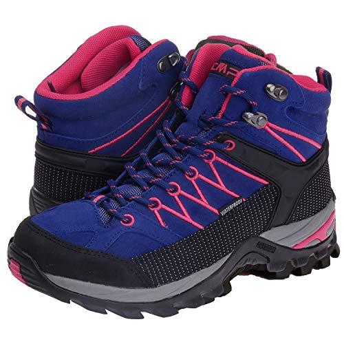 CMP Wanderschuhe Damen Outdoor Schuhe Trekkingsschuhe wasserdicht leicht und bequem mit Dicker Sohle in vielen Farben Ragel, Größe:36, Farbe:Ibisco-Black-Blue-High