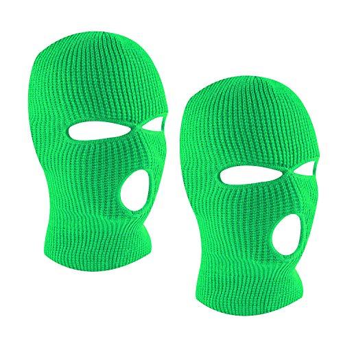 SUNTRADE 3-Loch Skimaske Gesichtsmaske Sturmhaube für Damen und Herren, 2er-Set Gr. Einheitsgröße