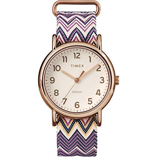 Timex Damen Analog Quarz Uhr mit Nylon Armband TW2R59000