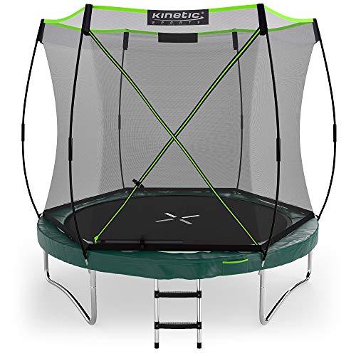 Kinetic Sports Gartentrampolin TBSE800, 244 cm, grün