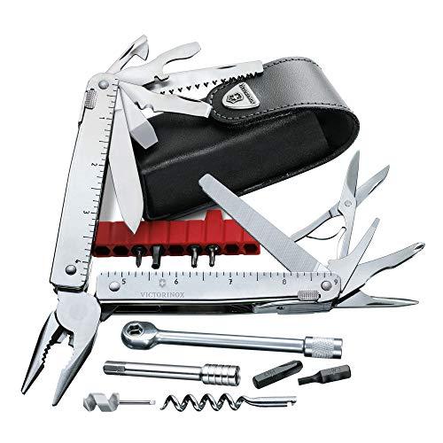 Victorinox Multifunktionswerkzeug SwissTool X Plus Ratchet (38 Funktionen, Etui, Ratsche) silber