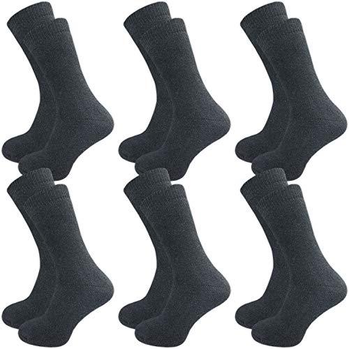 GAWILO 6 Paar warme Herren Winter Thermo Socken mit Wolle – Vollplüsch – super weich – weicher Abschlußbund – feine Zehennaht