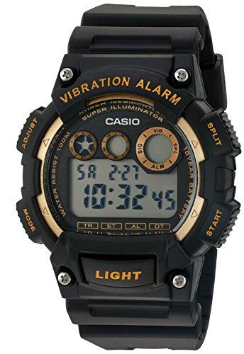Casio Herren Uhr digital Quarzwerk mit Sonstige Materialien Armband W-735H-1A2VCF