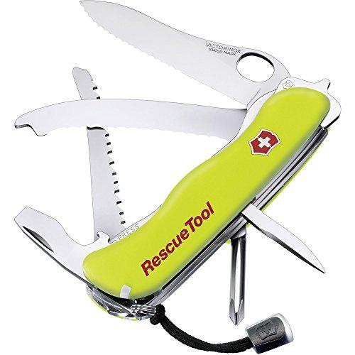 Victorinox Taschenmesser Rescue Tool (15 Funktionen, Frontscheibensäge, Gurtenschneider, Scheibenzertrümmerer) gelb