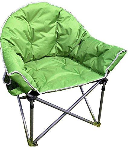 Crusader Komfort Extra gepolstert Badewanne Camping-Stuhl, zusammenklappbar