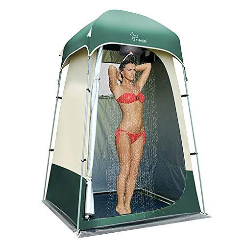 Vidalido Outdoor-Duschzelt, Umkleidekabine, Privatsphäre, tragbar, Camping-Unterstand (weiß + grün)