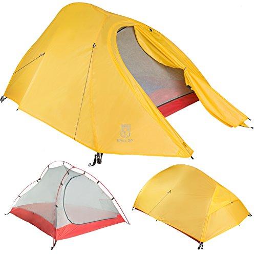Paria Outdoor Products Bryce ultraleichtes Zelt und Unterlage - Perfekt für Rucksacktourismus, Kajakfahren, Camping und Bikepacking (Bryce 1P)