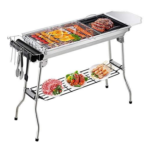 Holzkohlegrills, Gifort Edelstahl Barbecue Holzkohle Grill Tragbarer Klappgrill Grill Für BBQ Party Garten Camping