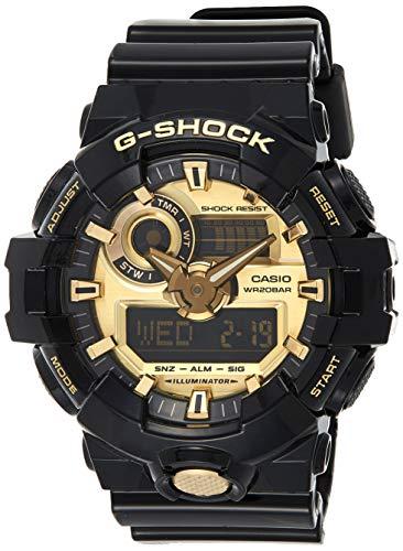 G-Shock Men's GA710GB-1ACR Watch Black Gold
