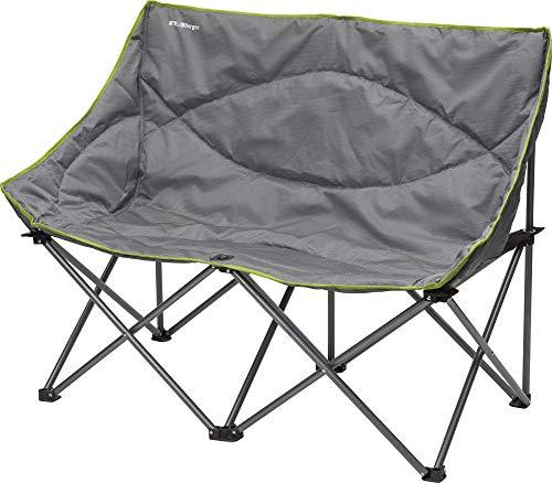 BERGER Faltsofa Relax Double grau Campingstuhl Klappstuhl Gartenstuhl Stuhl Pärchenstuhl bis 200 kg