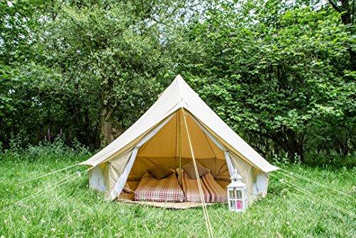 Bell Tent Canvas-Zelt, Bodenplane mit Reißverschluss, 100% Baumwolle, für Festival, Kinder, Camping, Glamping, Garten