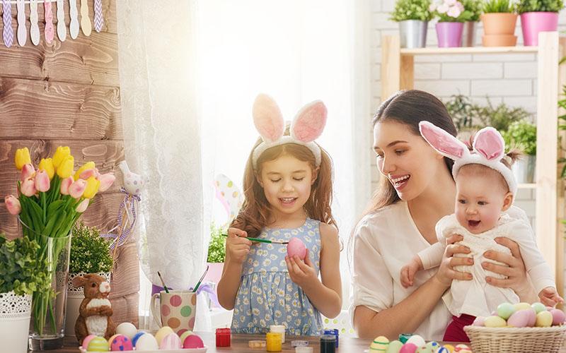 Familie Besuchen An Ostern